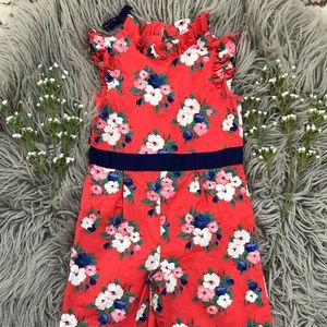 Janie and Jack floral 🌸 jumpsuit like new!
